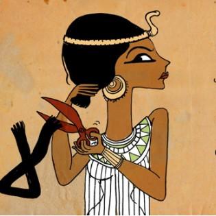 """8. Nel modo della """"figlia di Akhnatun"""", le donne a Tahrir si tagliano i capelli in protesta contro la Costituzione - Doaa el Adl -"""