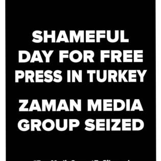 1. La prima pagina di Zaman prima del commissariamento