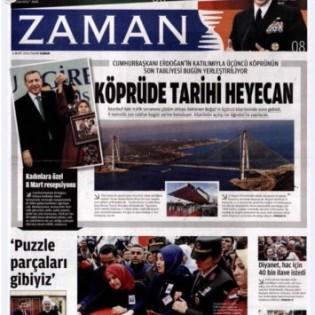 2. La prima pagina di Zaman dopo il commissariamento